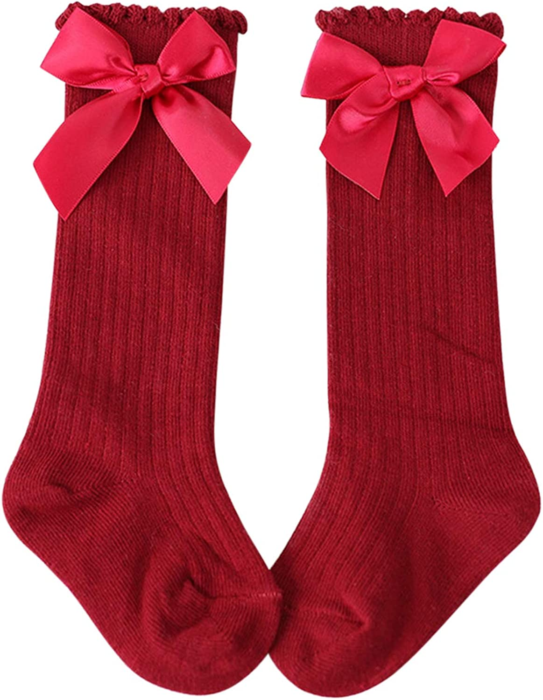 Blaward Kinder M/ädchen Kniestr/ümpfe Socken Prinzessin Bowknots Baumwollsocken 3-12Jahre