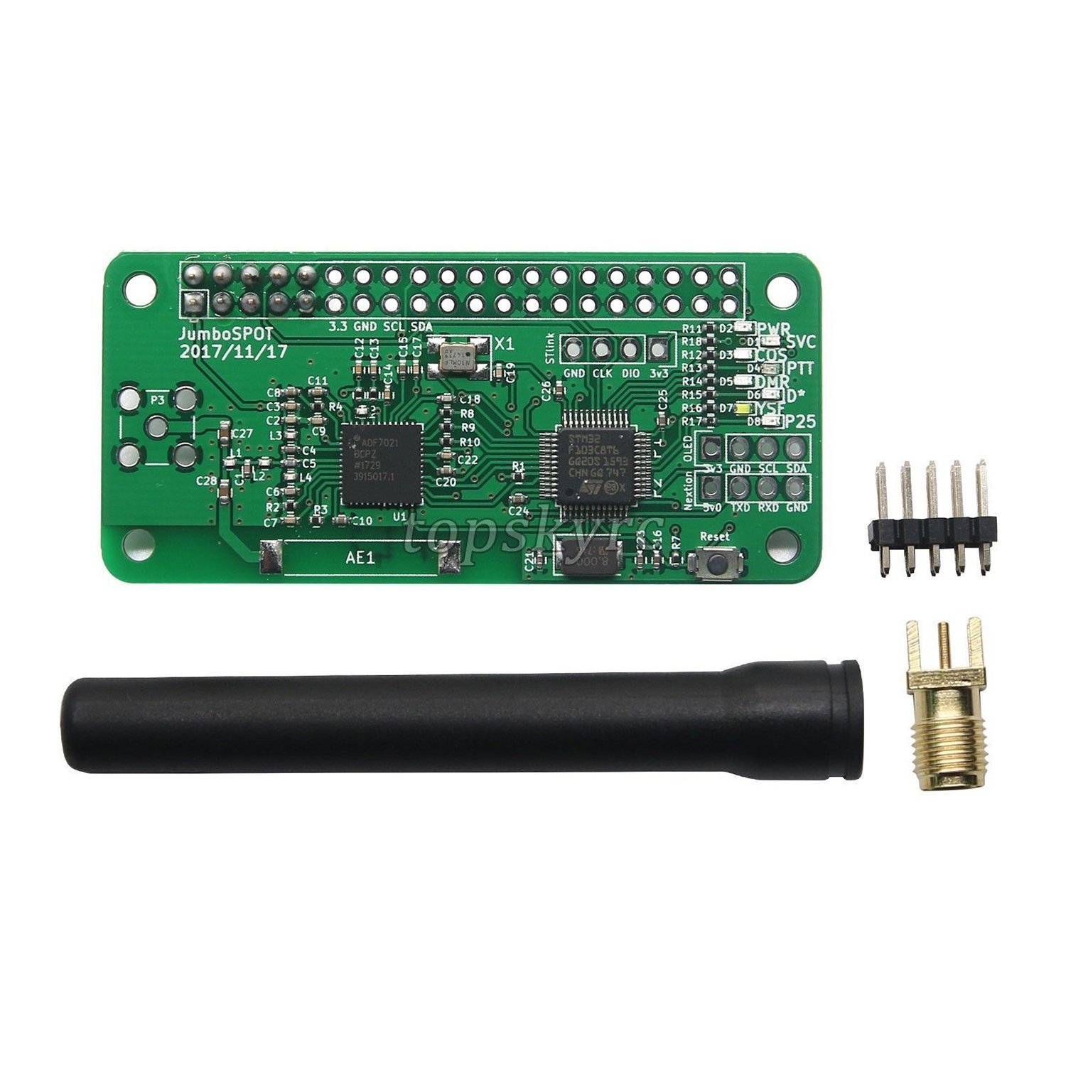 SODIAL MMDVM Hotspot Pi-Star Support P25 DMR YSF for raspberry pi + Antenna