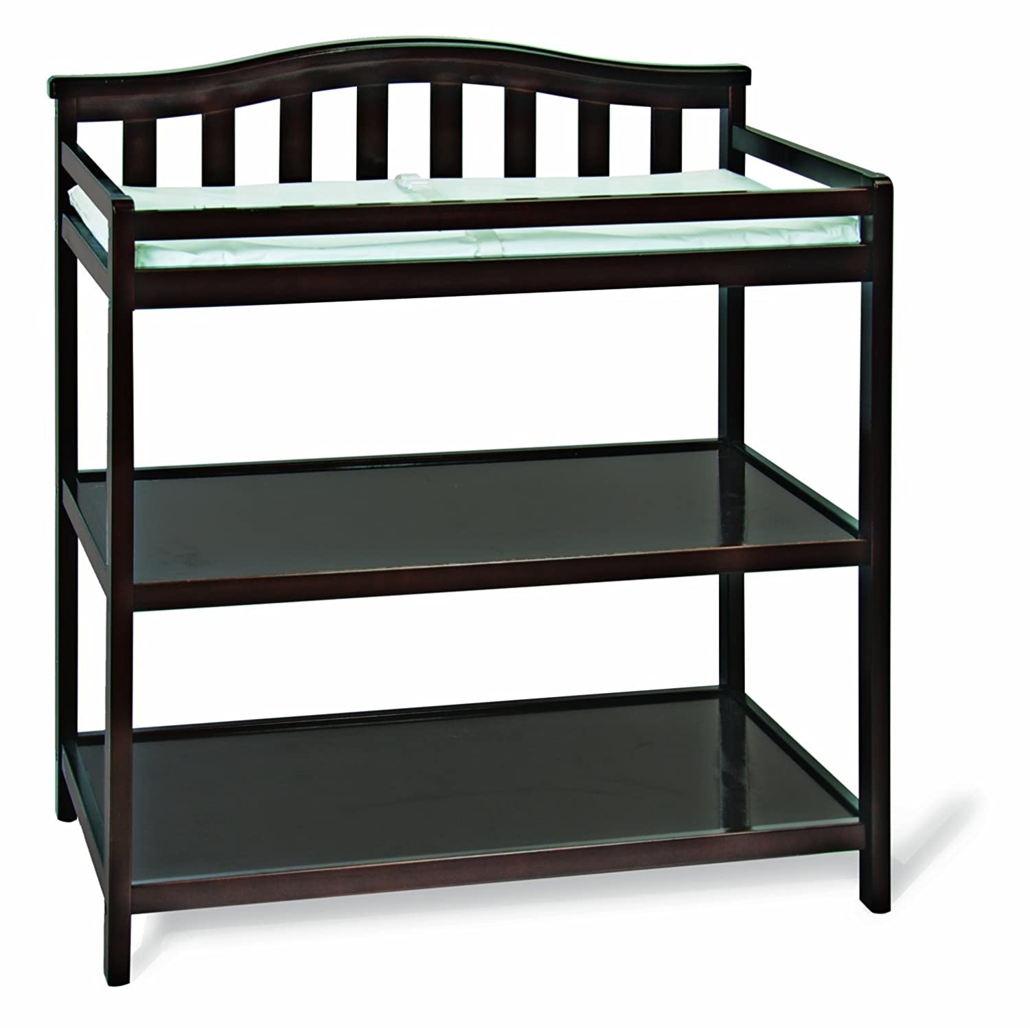 Child Craft Arched Top Changing Table with Pad, Jamocha