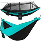 FE Active Outdoor Camping Hammock - Double Hammock with Removable Mosquito Net Portable Hammocks for Trees with…