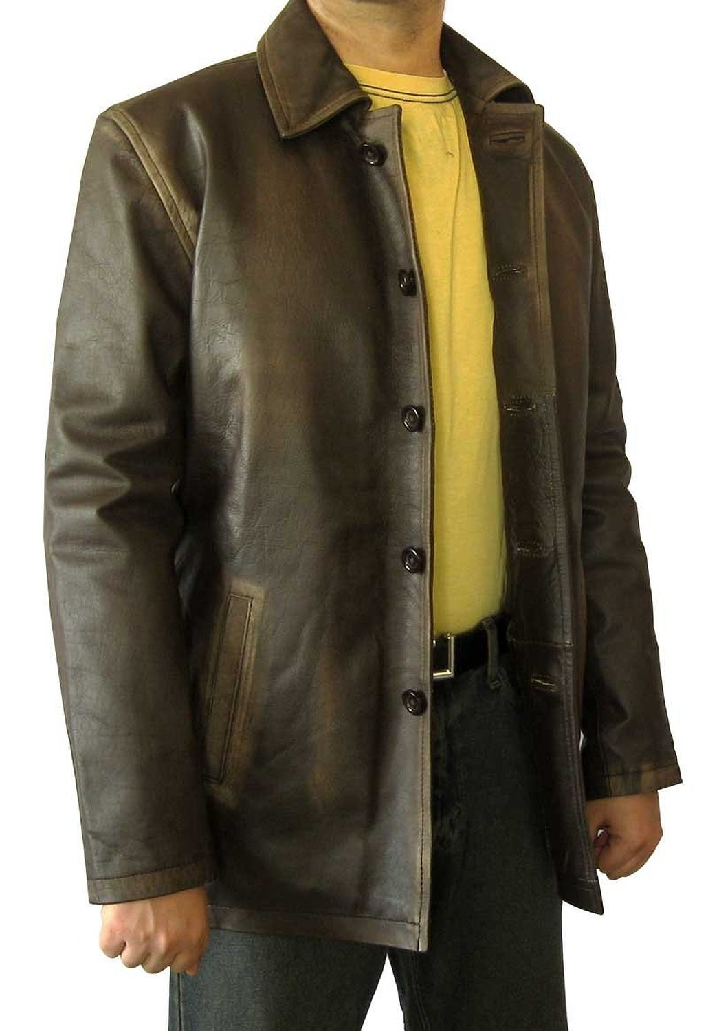 Dean Winchester Brown Winter Coat - Dark Brown Leather Coat (M) [RL-SUPN-BR-M]