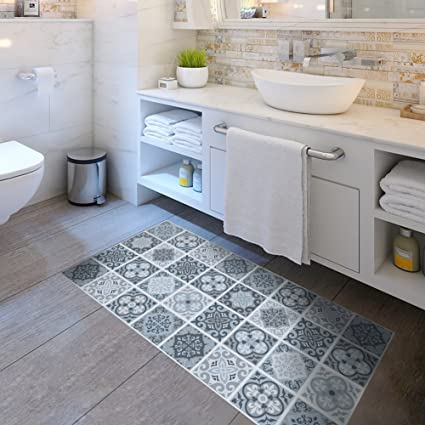 Amazon Non Slip Wear Resistant Flooring Stickers Floor Tiles