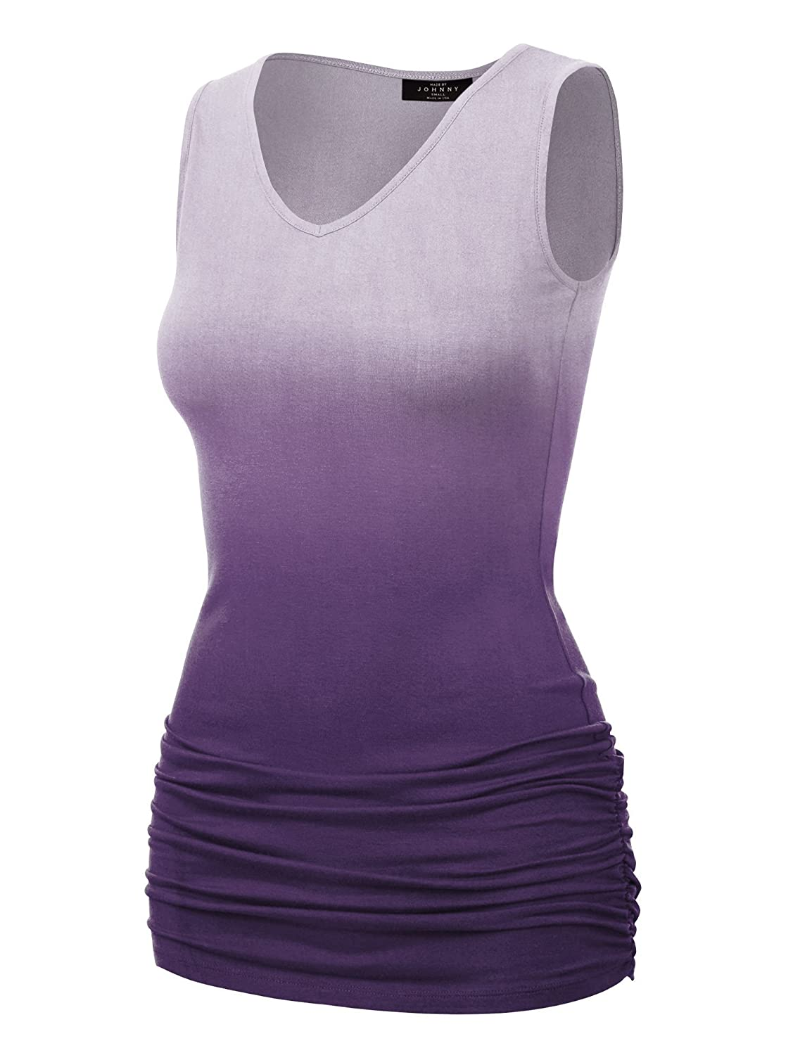 c92b2170e7f MBJ Womens Sleeveless Stretch Comfy Tank Top - Made in USA MBJWT879 ...