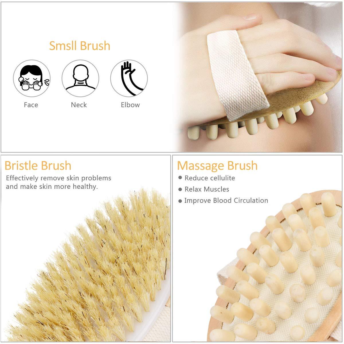 Schönheit & Gesundheit Einfach 2 In 1 Abnehmbare Langstieligen Holz Natürlichen Borsten Pinsel Bad Pinsel Massager Baby Bad Dusche Bad Zubehör Bad & Dusche