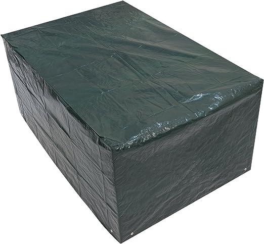 Woodside - Bâche/Housse de protection pour table de jardin rectangulaire -  imperméable - vert - 1,5 m/5 ft