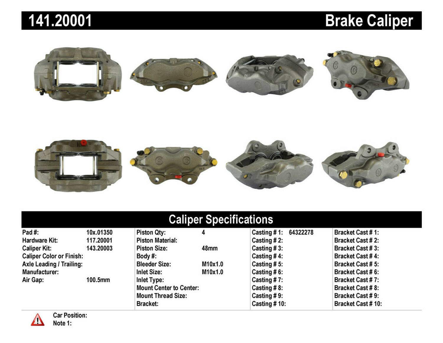 Centric Parts 141.20001 Semi-Loaded Caliper with Hardware