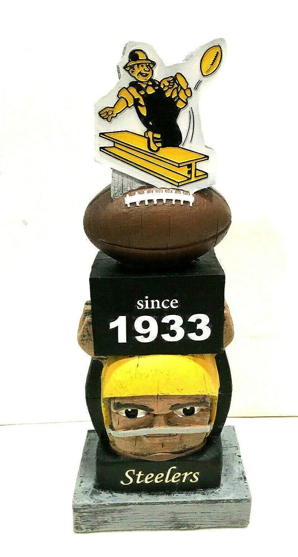 Pittsburgh Steelers since 1933 NFL Tiki Totem Lawn Garden