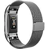 Fitbit Charge 2 Correa , Hanlesi Pulsera de Acero Inoxidable Reemplazo de la Muñeca con Cierre de Metal para Fitbit Charge 2 Fitness Wristband