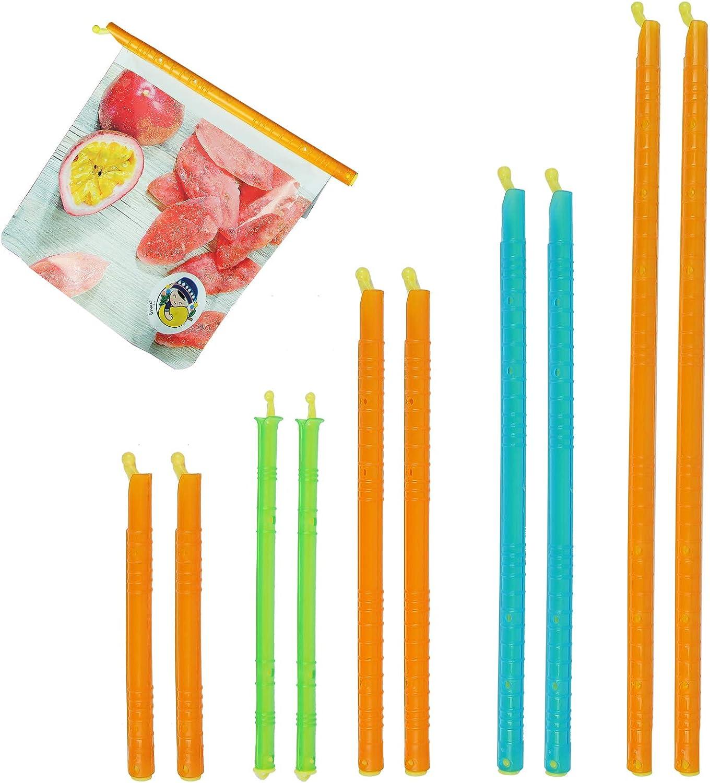 Plastic Sealer Slide Chip Clip - Stay Fresh Bag Sealer Sticks Kitchen Storage Clips Flexible Seal Clamp Simple And Practical Suitable For Snacks Fruits Tea Vegetables (10Pcs)
