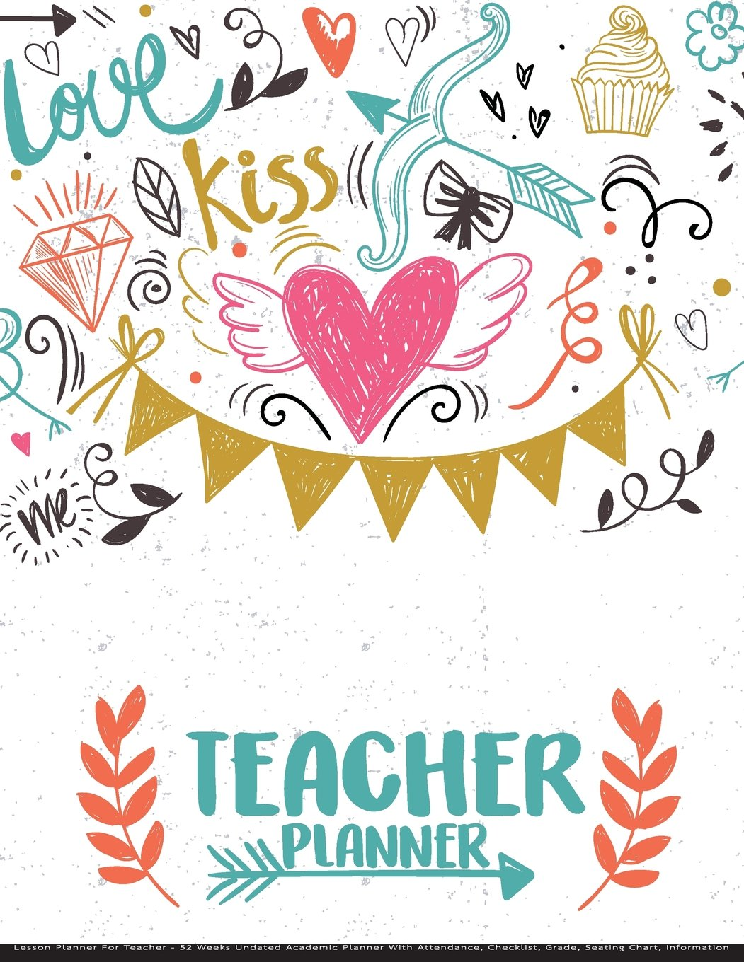 teacher planner lesson planner for teacher 52 weeks undated