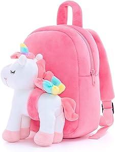 Lazada Unicorn Kids backpack with Plush Girl Toys White 11 Inches Age 3+