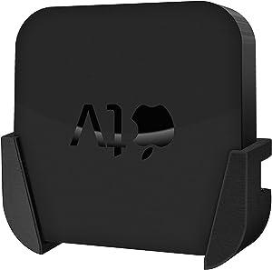 Brainwavz Wall Mount for Apple TV HD 3rd Gen (A1427, A1469, A1378) - No Screws, Mess & Easy to Install Holder (Black)