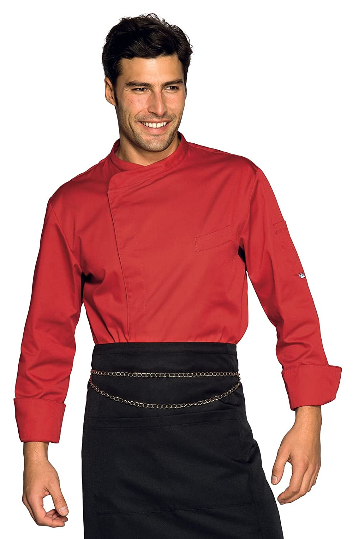 Isacco Rosso Rosso XXL Manica Lunga Isacco Giacca cuoco Bilbao 65/% Poliestere 35/% Cotone
