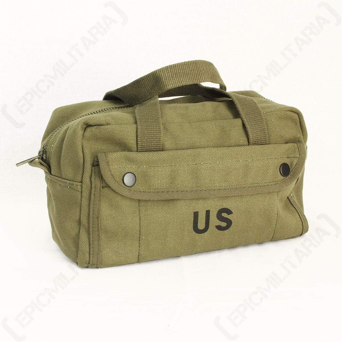 vert Sac Porte Outils Petite militaire am/éricaine US Vintage WWII 101/INC