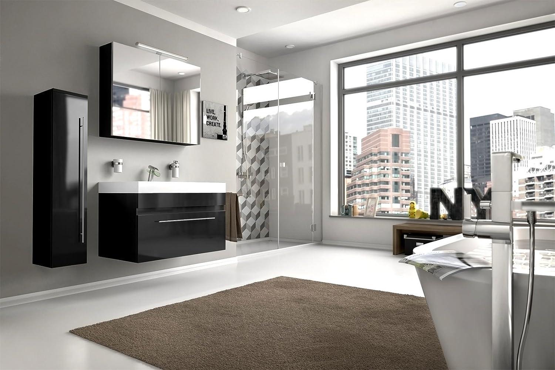 Toll Bad11®   Badmöbelset LAZZARO 3 Teilig 80 Cm, Bad Möbel Set Mit Waschplatz  Inklusive Mineralguss Waschbecken, Exklusive Badezimmer Ausstattung In  Hochglanz ...
