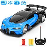 Remote Control Car - 1/16 Scale Blue Remote Toy Racing, with Led Lights High Speed RC Toys Car for Kid 3 4 5 6 7 8 9 Year Old Boys and Girls