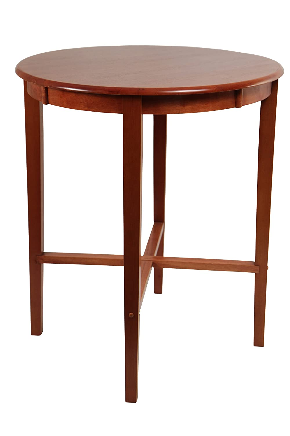 Amazon.com: Boraam 70564 Round Pub Table, 42 Inch, Cherry: Kitchen U0026 Dining