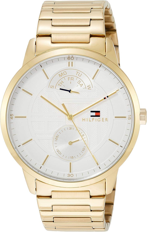 [トミーヒルフィガー] 腕時計 HUNTER マルチファンクション ホワイト文字盤 1791609 メンズ 並行輸入品 シャンパン