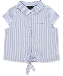 French Toast Girls Short Sleeve Tie Front ...