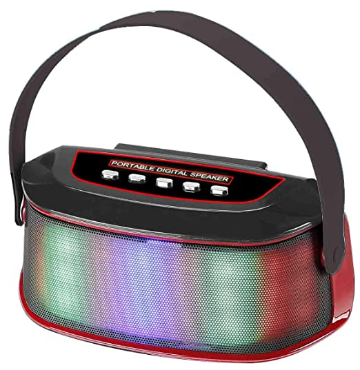Blackbear WS Y96 Xtreme Stereo Sound Portable LED + Wireless Bluetooth Mobile/Tablet Speaker  Multicolor