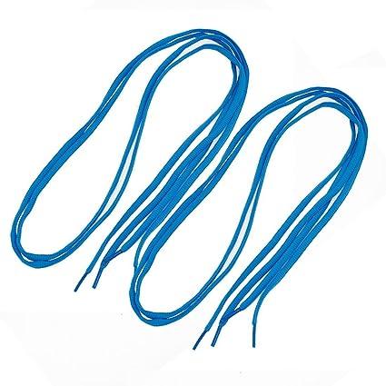 Como Uomo e Donna Sneakers Nylon rotonda lacci lacci blu 2?Pairs HqxRY