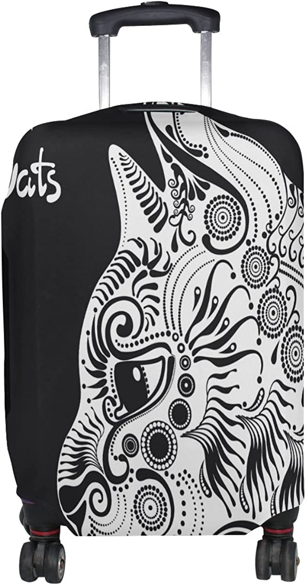 GIOVANIOR White Cat Decorative Luggage Cover Suitcase Protector Carry On Covers