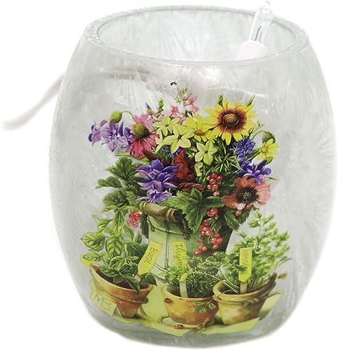Stony Creek Herb Garden Pre-Lit Vase Small Summer Flower Herbs Mba0252 Herb