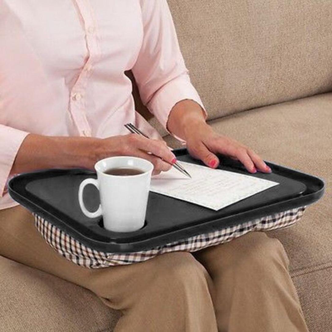 Inverlee Multifunction Lap Desk for Laptop Chair Student Studying Homework Writing Portable Dinner Tray (Black)
