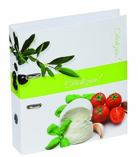 Pagna Olive&Tomate - Archivador con anillas para recetas de cocina A4, blanco