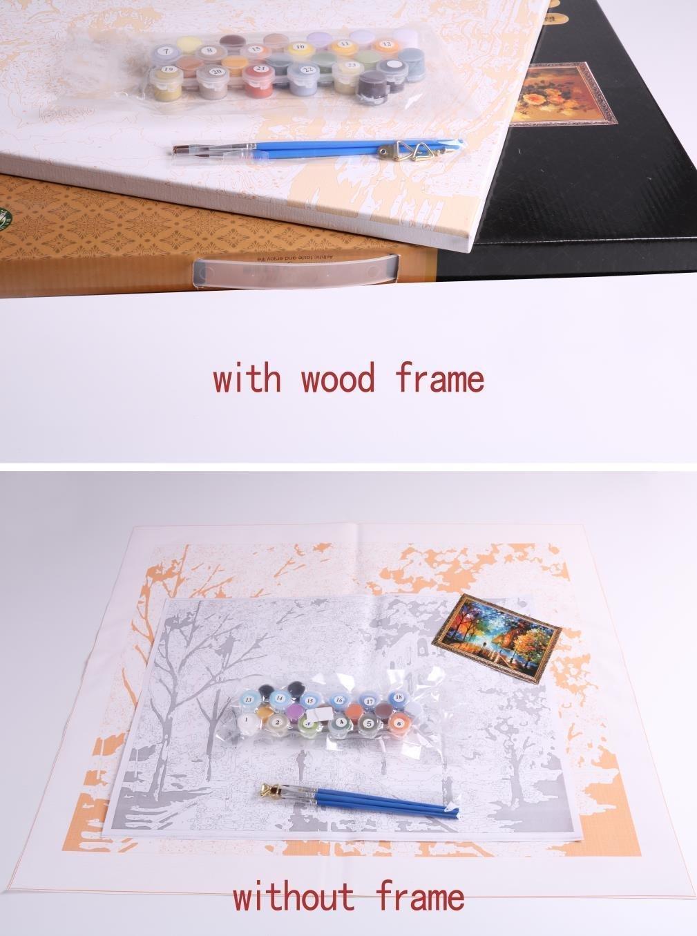 Holz Rahmen, Malen nach Zahlen DIY Ölgemälde Oriental Dragon Wall ...