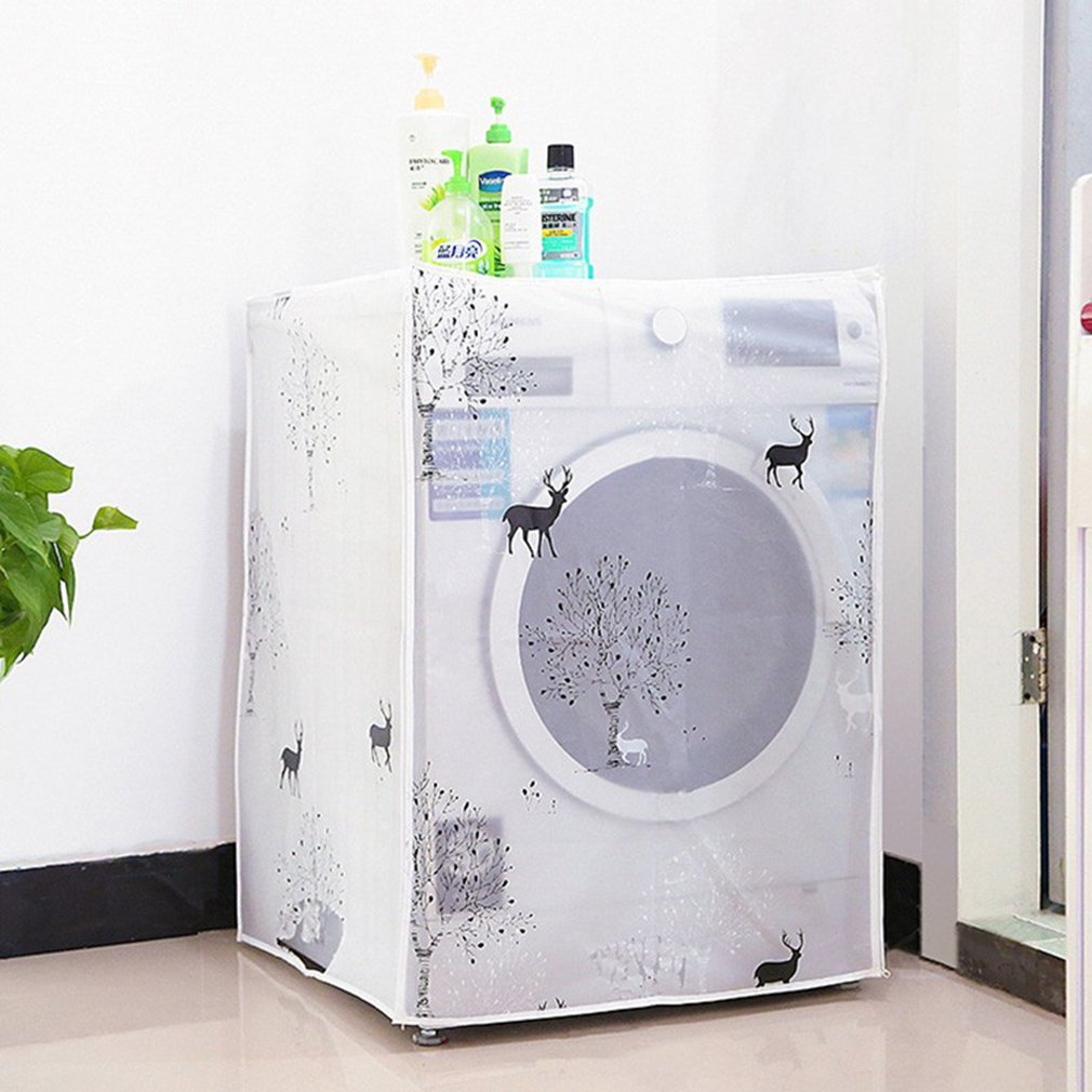 As description A# Bear PEVA Yinew impermeabile roller lavatrice top copre completamente automatico drum rondella Ripple cilindro Dust Guard essiccatore antipolvere