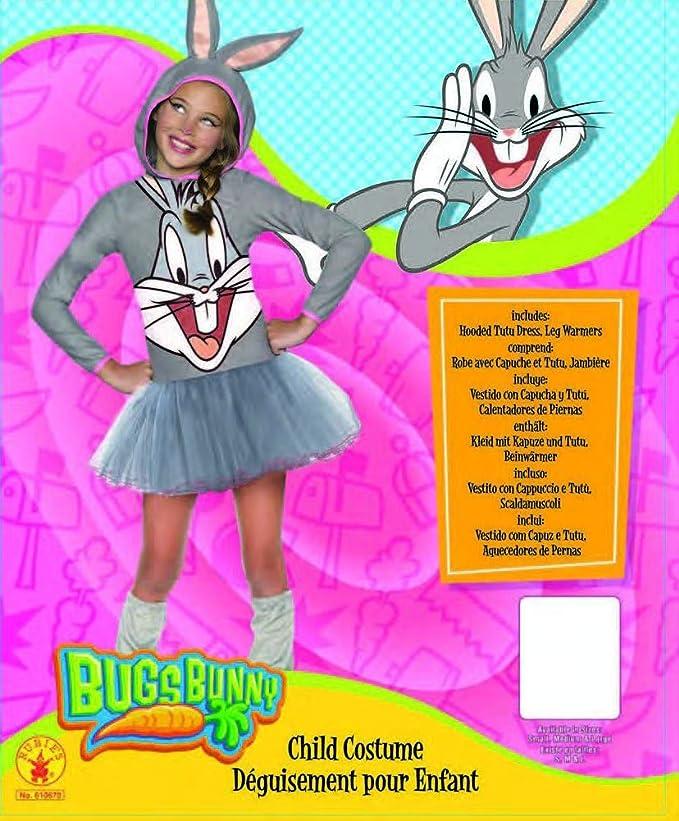 Amazon.com: Rubie\'s Looney Tunes Bugs Bunny Girls Hooded Costume ...