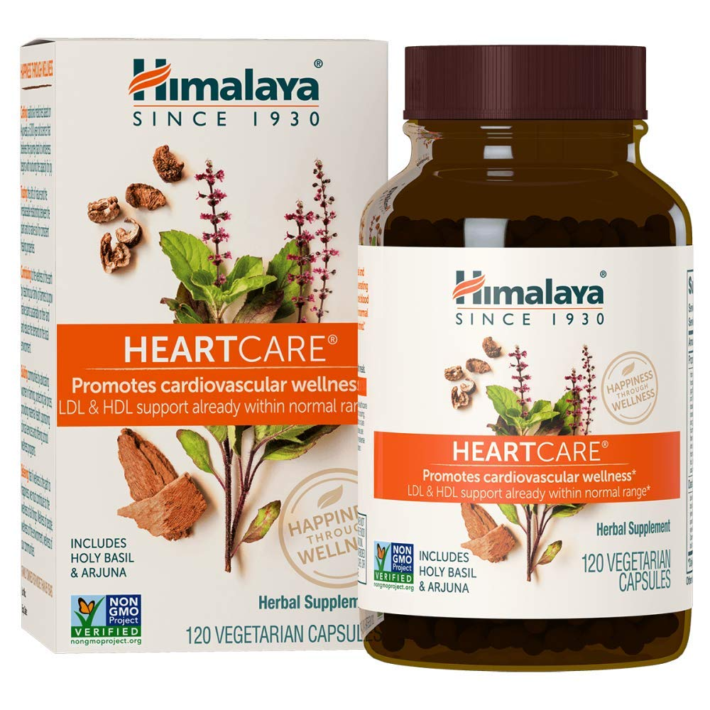 Himalaya HeartCare with Holy Basil & Arjuna for Cardiovascular Wellness and Heart Health Support 720mg 120 Capsules, 1 Month Supply