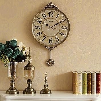 YYF Wanduhr Kreative Neue Wanduhr Wohnzimmer Stumm Hängenden Tisch  Dekoration Wanduhr Atmosphärischen Mode Uhr Retro Einfache