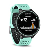 Garmin 010-03717-49 Forerunner 235 GPS Running Watch with Elevate Wrist Heart Rate and Smart Notifications - Black/Frost Blue