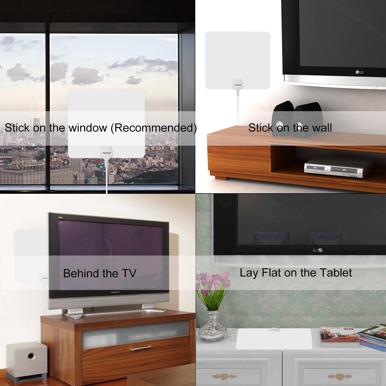 Topjoy Antena TV Antena de TV Digital HD Interior Delgada ...