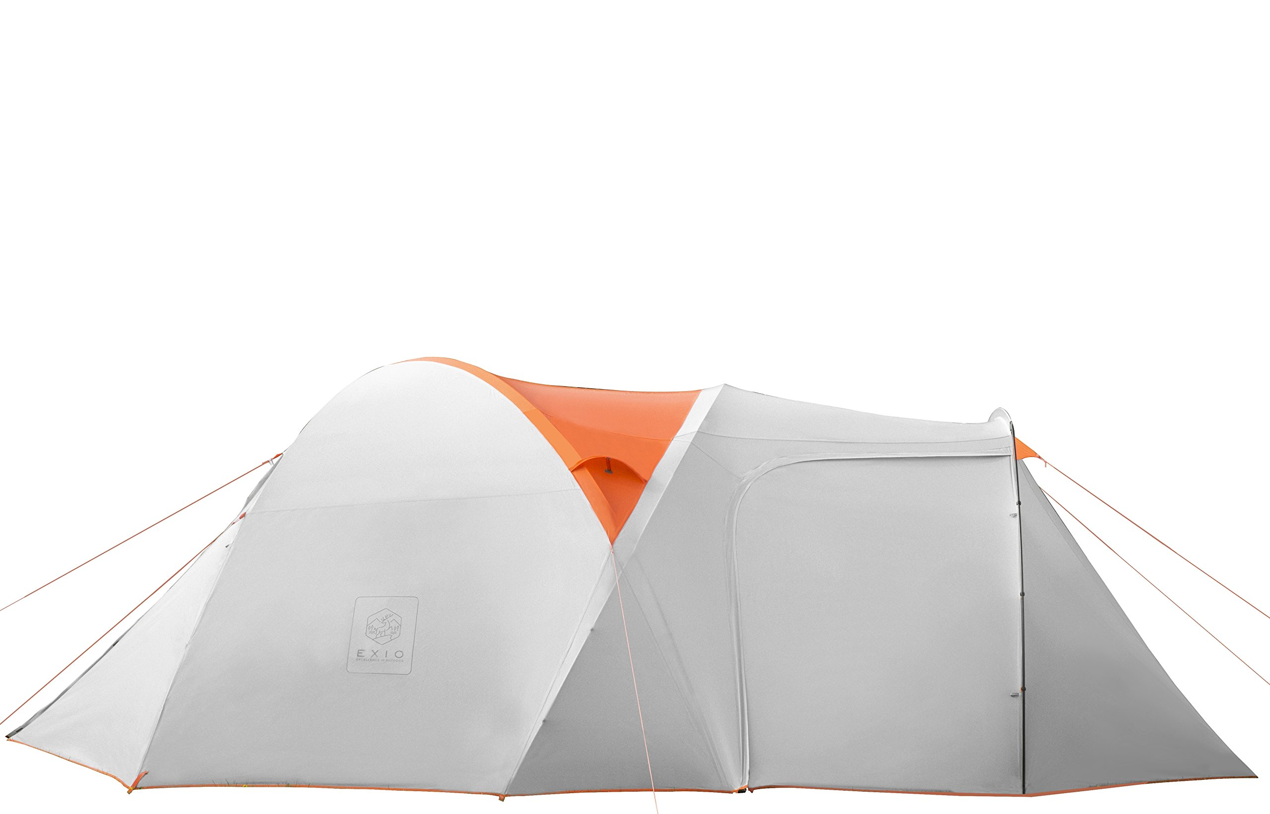 Exio Gear EXIO 6-Person Compact Backcountry Tent, 20D Breathable Ripstop Nylon Tent and Rainfly with PU2000 Silicone Coating, Aluminum Poles, Footprint Included