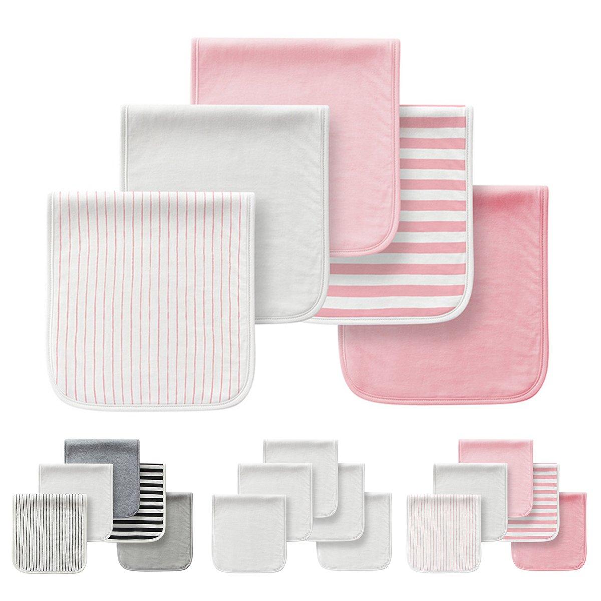 Paños de algodón para hacer eructar al bebé, de tres capas, absorbentes, suaves, pack de 5 unidades rosa rosa Talla:21X10: Amazon.es: Bebé