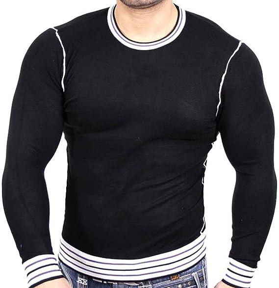 Baxboy Herrenpullover Sweatshirt Fein Strick Uni Pullover