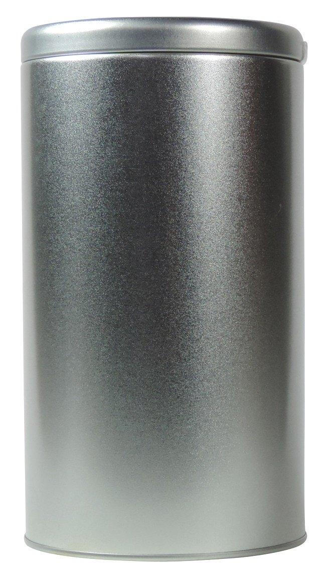 mikken Bote/Tarro para café para 430gr, Caja de Metal, Té–Lata Redonda con Tapa, Color Plata, 10x 10x 18cm Té-Lata Redonda con Tapa 10x 10x 18cm #60964#