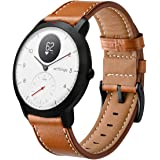 HATALKIN Watch Band for Withings/Nokia Steel HR Band 40mm Leather,20mm Watch Band Geniune Leather Replacement Strap…