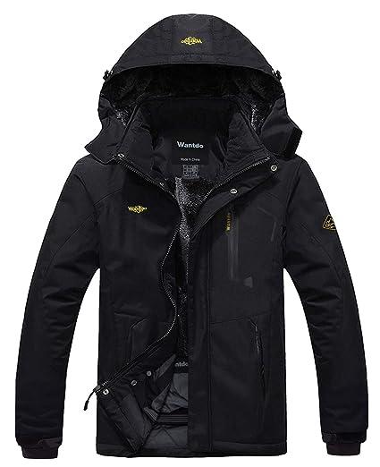 pas cher pour réduction c1703 d5296 Wantdo Homme Veste de Ski Imperméable Anorak à Capuche Sportif