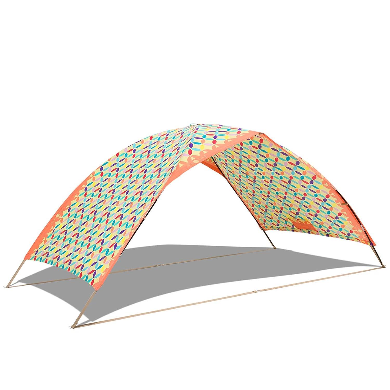 Solimero Strandmuschel Ipanema Sonnenschutz UV 80 Strandzelt Strand Wind Schutz 2,9x1,45x1,25 m