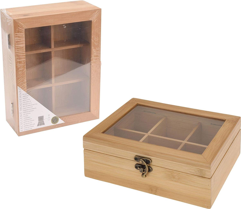 Caja para té bambú