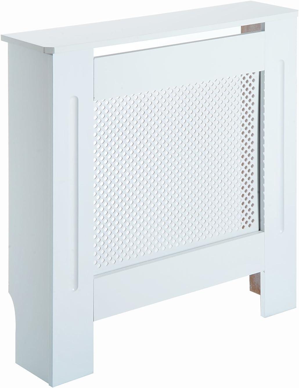 HOMCOM Cubre Radiador Cubierta de Radiador Mueble Estante de Pared para Radiador Diseño Moderno MDF 78x19x82cm