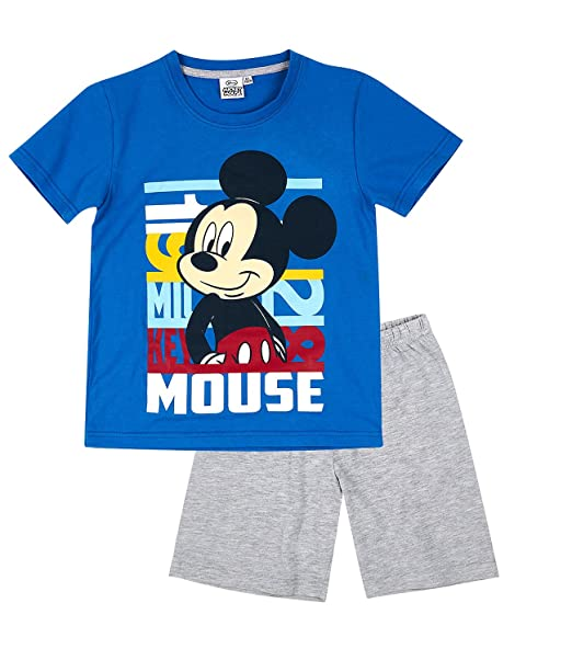 Disney Mickey Chicos Pijama mangas cortas - Azul: Amazon.es: Ropa y accesorios