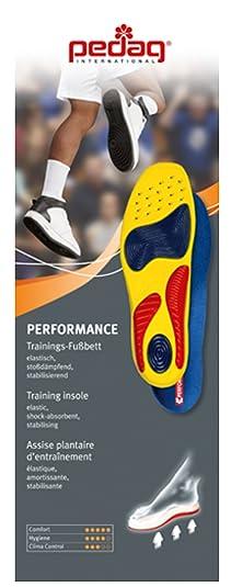 Pedag Rendimiento Amortiguador De Golpes Deportes Plantilla Zapatillas - Multicolor, E41 UK L8