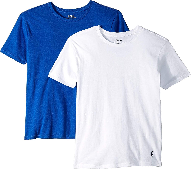 3fdeb637 Amazon.com: Polo Ralph Lauren Kids Boy's 2-Pack Crew Tee (Little Kids/Big  Kids): Clothing