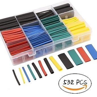 120 tlg Set Schrumpfschlauch 4mm 8mm Kabelisolierung farbig Isolation Schlauch