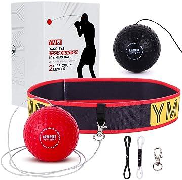 Fight Vitesse La Coordination Main-/œil pour Les R/éactions de Vitesse d/'entra/înement s/'am/éliorent Bandeau Ajustable BuzzfashionfashionFASHION Boxe Balle Boxing Reflex Ball